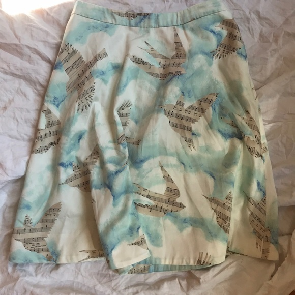 Anthropologie Dresses & Skirts - Maeve Anthropologie musical bird skirt 6